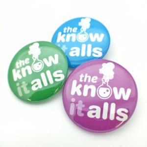 The KnowitAlls Buttons