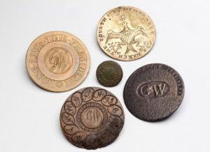 George Washington presidential button history